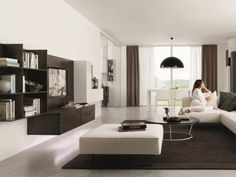 Moderne Wohnzimmer Weis Einrichtungsideen Modern Braun Weiss Wohnwand Z238 Zalf
