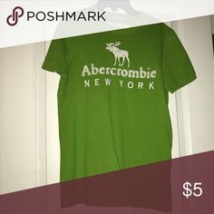Abercrombie Tshirt Green Abercrombie tee Abercrombie & Fitch Shirts Tees - Short Sleeve