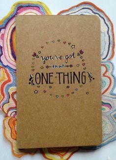One Direction 'One Thing' Moleskine Pocket Notebook - Lyrics art on notebook!