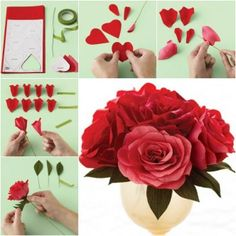 How to DIY Easy Crepe Paper Rose thumb