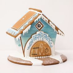 Gingerbread Cookie Cottage // spicecakehouse