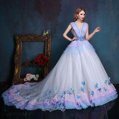 Doresuwe.com SUPPLIES Vネック 双肩 綺麗目ロングドレス 披露宴ドレス 結婚式ドレス 披露宴ドレス (3)