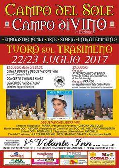 Campo del Sole Campo di Vino Tuoro sul Trasimeno 22-23 luglio 2017