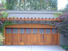 Sikkens Home Decorator - Stained Garage Door - Hague's Paint & Decorating Garage Door Paint, Wood Garage Doors, Door Paint Colors, Stain Colors, Entrance Doors, Exterior Paint, Beautiful Homes, Pergola, Deck