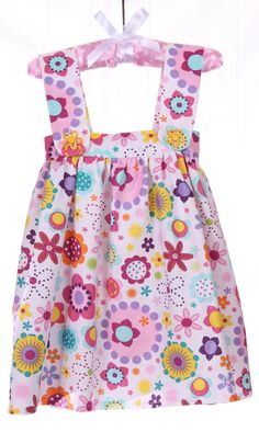 Cute Little Girls Flowered Jumper Dress by MichelleLynnDesign, $28.95
