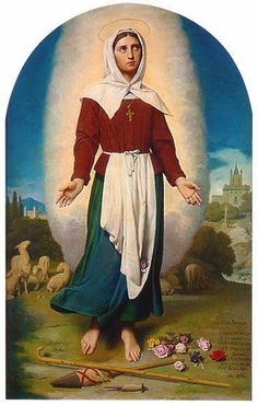 Happy Feast Day of St Germain Cousins/St Germain of Pribac – June 16 #pinterest Her love for Jesus in the Blessed Sacrament and for His Virgin Mother presaged the saint. She assisted daily at the Holy Sacrifice; when the bell ran she left her flocks to the care of Providence while she heard Mass. Although the pasture........