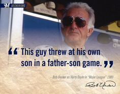 """""""This guy threw at  his own son in a father-son game."""" -#UECKER #MAJORLEAGUE"""