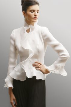 Classic tie blouses in organza. Another fabulous reward for my kickstarter.