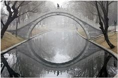 Up and oval the bridge