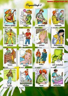 German Vocabulary - Tagesabläufe Part 1 « L E A R N G E R M A N
