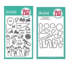 Avery Elle Clear Stamp and Die SETHFAE Hats Off SET