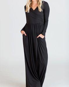 1968adaabd6fa Maternity Styles - smart maternity maxi dress   Gemijack Womens Maxi Dresses  Long Sleeve Casual Empire
