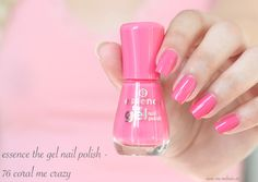 essence the gel nail polish - 76 coral me crazy