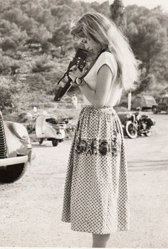 "missbrigittebardot:  Brigitte Bardot on the set of ""The light across the street"", 1955"