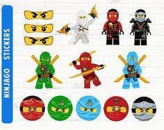 Pegatinas de Ninjago Ninjago partido Ninjago imprimibles archivos digitales