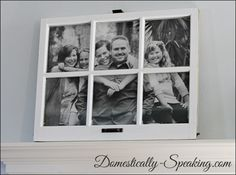 Domestically Speaking: Using an old window as a frame