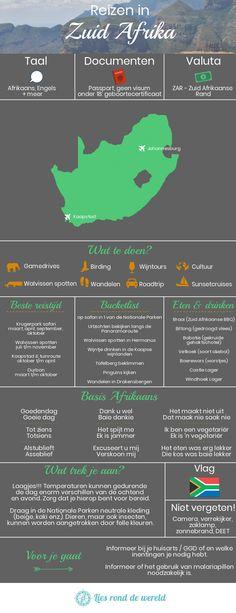 Reizen in Zuid Afrika. Informatie en tips verzameld in 1 overzicht, van ideeën voor je bucketlist tot basiszinnen in het Afrikaans. Handig als je op reis gaat naar Zuid Afrika!