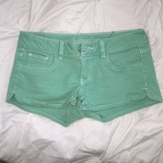 Mint green jean shorts Jean shorts for spring/summer American Eagle Outfitters Shorts Jean Shorts