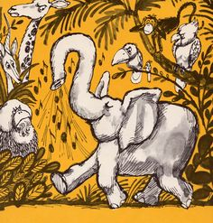my vintage book collection (in blog form).: The Elephant's Child - illustrated by Don Madden