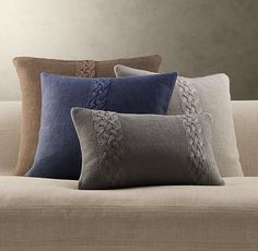 Belgian Linen Knit Pillow Covers (Restoration Hardware)