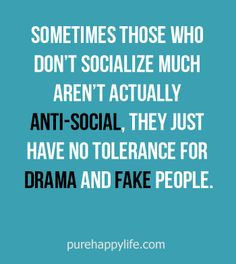 #quotes more on purehappylife.com - Sometimes those who don't socialize much aren't actually anti-social