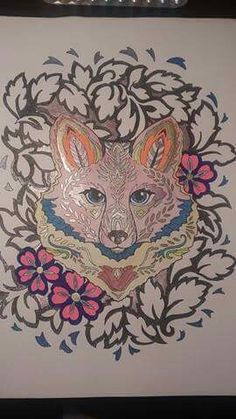 38 Best Coloring Fanciful Foxes Images On Pinterest