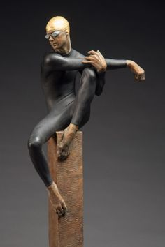 deon duncan : figure sculpture : Swim Series 2