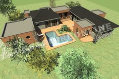 map-of-house-storey-contemporary-style-INTIMA-de-ground plan - Future House, My House, Bungalow, Casas Containers, Living Styles, Modern House Plans, Next At Home, Sustainable Design, Interior Design Living Room