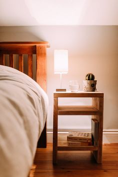 This rustic table is made from reclaimed scaffolding wood and is perfect as a bedside table or small side table in the living room. Each table is