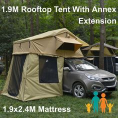 Rooftop Roof Top Tent 3.1x1.9M C&er Trailer 4WD 4X4 C&ing Car With Annex | Roof top tent Rooftop and Tents : tent safety - memphite.com