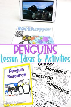 Engaging penguin activities and videos. Students will enjoy reading and writing about penguins, doing a science experiment, and making a craft. #penguinactivities #allaboutpenguins #januaryideas