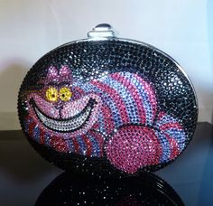 RARE Judith Leiber Disney Cheshire Cat Crystal Minaudiere Clutch Handbag | eBay..