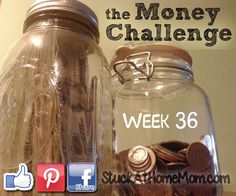 The Money Challenge Week 36 with Printable Chart - Save $1,378.00 | StuckAtHomeMom.com