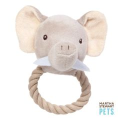 Martha Stewart Safari Rope Ring Elephant - PetSmart