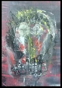 Autoportrait by BEAR Outsider Art, The Outsiders, Painting, Self Portraits, Painting Art, Paintings, Painted Canvas, Drawings