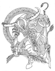 taurus - difficult coloring pages of zodiac signs --> If you're in the market for the top adult coloring books and supplies including drawing markers, colored pencils, gel pens and watercolors, go to our website at http://ColoringToolkit.com. Color... Relax... Chill.