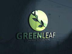 Green Leaf Logo by Josuf Media on @creativemarket