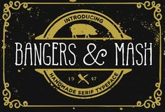 Bangers and Mash font by It's me simon on @creativemarket