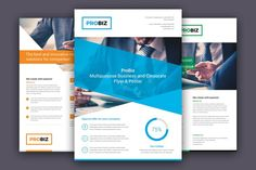 ProBiz – Business and Corporate Flyer by artbart on Envato Elements Safety Pictures, Business Flyer Templates, Corporate Flyer, Promote Your Business, Flyer Design, Case Study, Stationery, Clip Art, Brand Identity