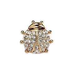 Rhinestone Pave Ladybug Lapel Pin Gold Plated Ladybug Brooch - rhinestone pin - http://jewellery.chitte.rs/pins/rhinestone-pave-ladybug-lapel-pin-gold-plated-ladybug-brooch-rhinestone-pin/