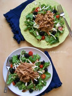 Baking with Blondie : Fresh Blackberry Slow Cooked Pulled Pork Salad