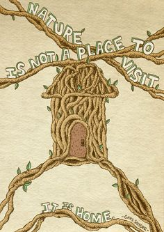 Gary Snyder nature quote art print recycled paper by MikeMedaglia