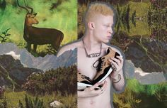 HISTORY OF THE UNIVERSE. Photos and collage by Michael Burk, featuring model Shaun Ross. www.michael-burk.com
