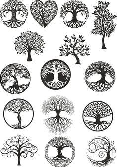 Vector ornament, decorative Celtic tree of life Ve. - Vector ornament, decorative Celtic tree of life Vector,tree digital file,tree dx… Vector ornamen - Tattoo Life, Tree Of Life Tattoos, Vector Trees, Vector Art, Vector File, Tattoo Drawings, Body Art Tattoos, Celtic Tree Of Life, Tree Of Life Symbol