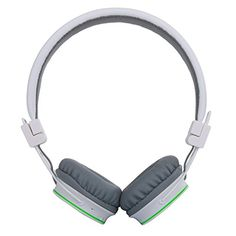 Deals week  Multifunctional Foldable Portable Bluetooth Headset for kids Dulcii Wireless Wired Dual-capable On-ear Stereo Headphone Support Micro SD Card FM Radio Streaming Built-in Microphone for Hands-free Calling for Smartphone Tablet PC Mac Laptop (White) Best Selling