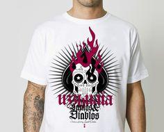 """#UZZHUAIA #ROCK #TSHIRT #CROWDFUNDING #VERKAMI - UZZHUAIA Camiseta Tshirt exclusiva para mecenas - """"Santos y Diablos"""" nuevo disco. Acabamos de cumplir diez años como banda y este va a ser nuestro 5ª disco oficial, ayúdanos a conseguir la financiación necesaria para poder sacarlo adelante tal y como se merece. calavera fuego fire skull +info www.uzzhuaia.com crowdfunding verkami www.verkami.com/projects/5988"""