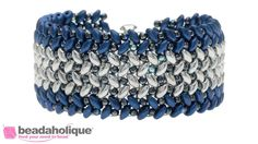 How to Stitch Herringbone with Two Hole Beads ~ Seed Bead Tutorials