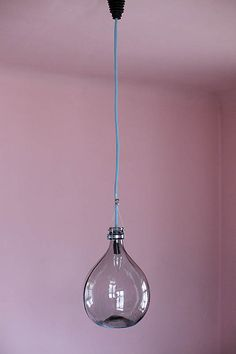 Lamp made of wine bottle / carboy