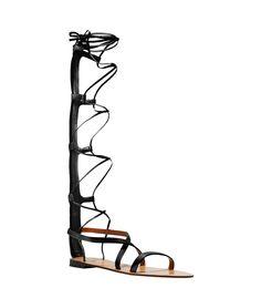 Valentino Black Knee-High Gladiator Sandal