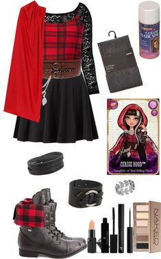 """DIY Halloween costume: Cerise Hood"" by crazydirectionergirl on Polyvore"
